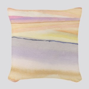 soft lavender abstract Woven Throw Pillow