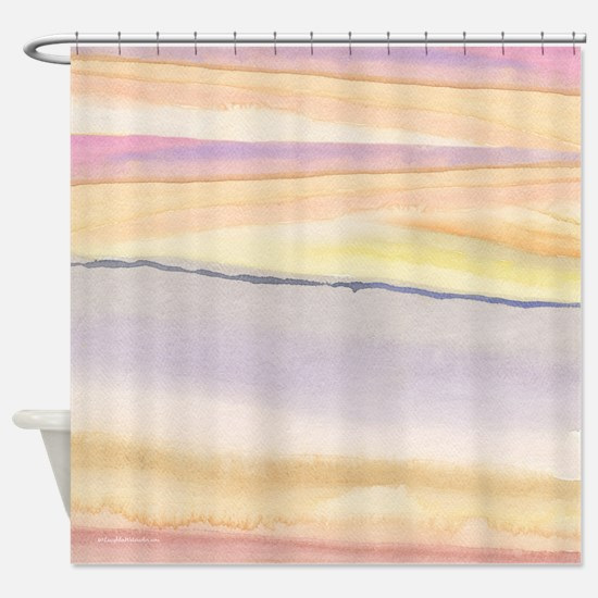 Soft Lavender Abstract Shower Curtain