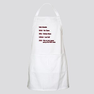 Daily Schedule  BBQ Apron