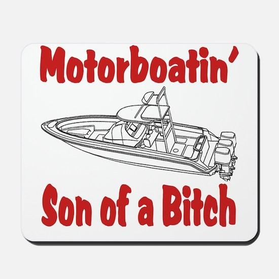 Motor Boating Mousepad