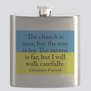 The Church Is Near Flask