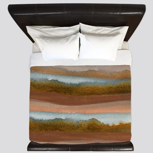 Copper Abstract King Duvet