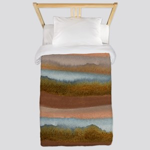 Copper Abstract Twin Duvet