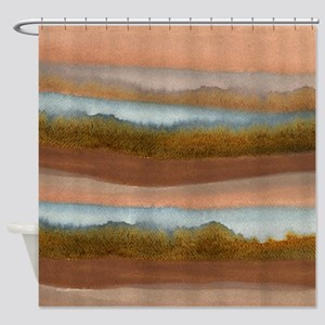 Copper Abstract Shower Curtain
