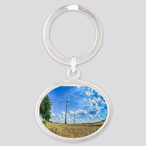 Clean Energy Oval Keychain