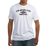 USS HENRY CLAY Fitted T-Shirt
