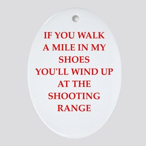 trap shooting Ornament (Oval)