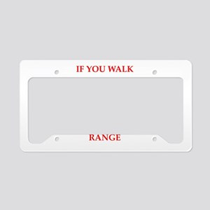trap shooting License Plate Holder