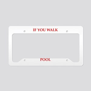 water polo and swimming License Plate Holder