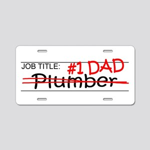 Job Dad Plumber Aluminum License Plate
