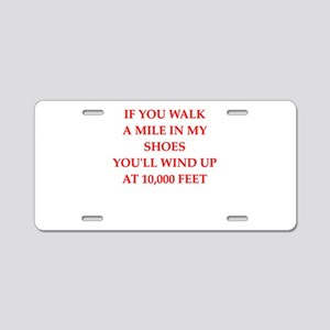 sky diving Aluminum License Plate