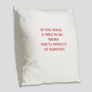sky diving Burlap Throw Pillow