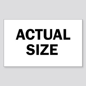 Actual Size Sticker