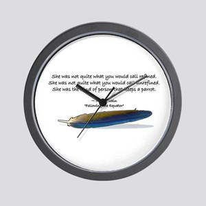 Mark Twain's parrot quote Wall Clock