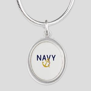 Navy Anchor Necklaces