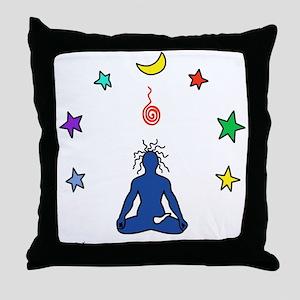Yogi Electric Blue Throw Pillow