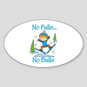 No Falls... No Balls Sticker