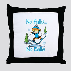 No Falls... No Balls Throw Pillow