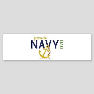 Proud Navy Dad Bumper Sticker