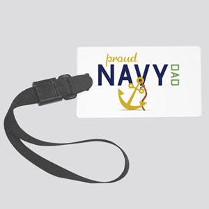 Proud Navy Dad Luggage Tag