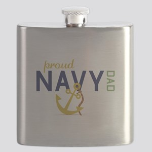 Proud Navy Dad Flask
