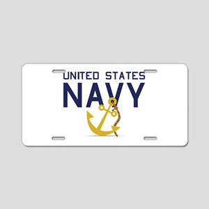United States Navy Aluminum License Plate