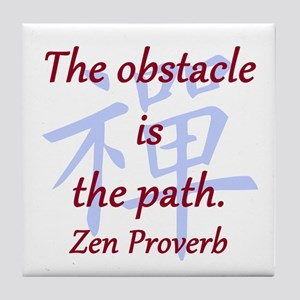 The Obstacle Is the Path Tile Coaster