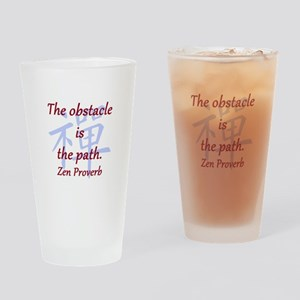 The Obstacle Is the Path Drinking Glass