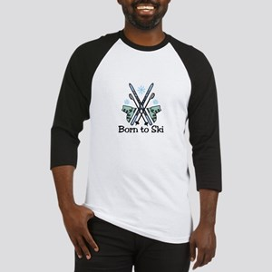 Born To Ski Baseball Jersey