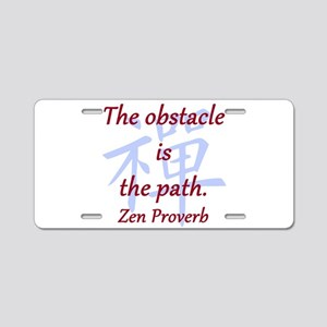 The Obstacle Is the Path Aluminum License Plate
