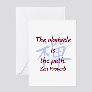 The Obstacle Is the Path Greeting Card