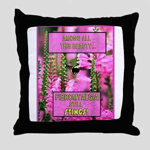 Bee Fibro Throw Pillow