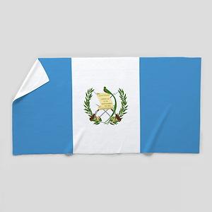 Flag of Guatemala Beach Towel