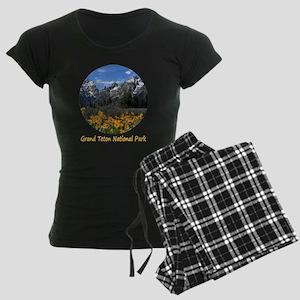 Grand Teton Mountains with Y Women's Dark Pajamas
