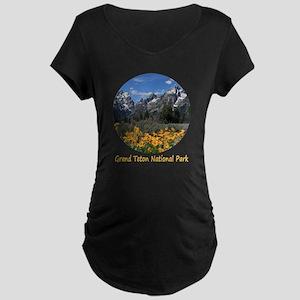 Grand Teton Mountains with Maternity Dark T-Shirt