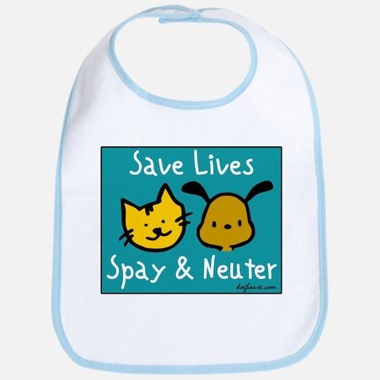 Save Lives Spay & Neuter Bib
