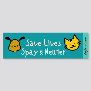 Save Lives Spay & Neuter Bumper Sticker