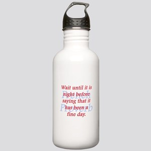 Wait Until It Is Night Water Bottle