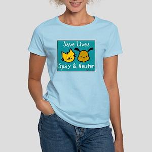Save Lives Spay & Neuter Women's Light T-Shirt