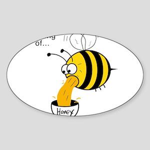 Funny Bee - Honey Sticker