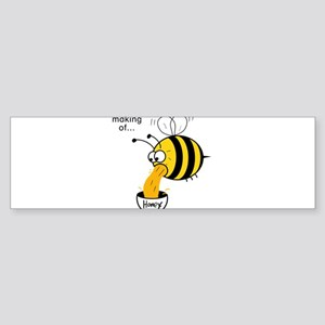 Funny Bee - Honey Bumper Sticker