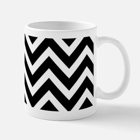 Black And White Zigzag Chevron Pattern Mugs