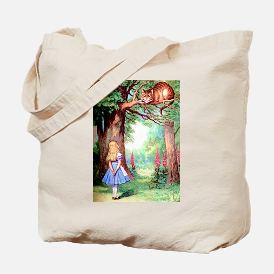 Alice and the Cheshire Cat Tote Bag