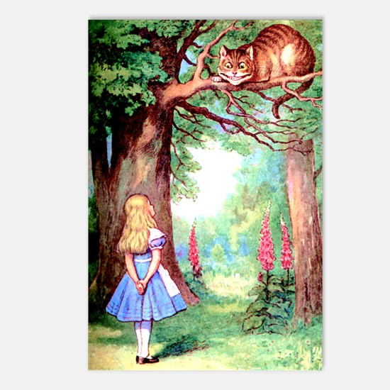 Alice and the Cheshire Cat Postcards (Package of 8