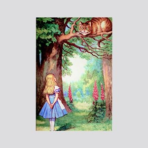 Alice and the Cheshire Cat Rectangle Magnet