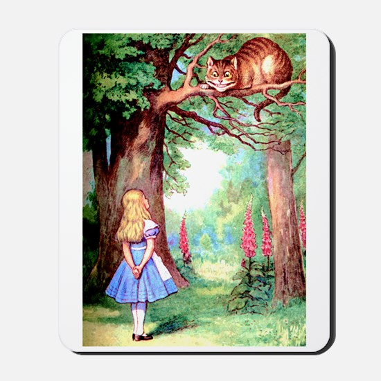 Alice and the Cheshire Cat Mousepad