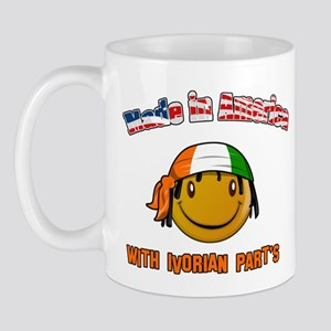 Made in America with Ivorian  Mug