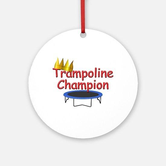Trampoline Champ Ornament (Round)