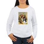 Flowers & Tri Cavalier Women's Long Sleeve T-Shirt