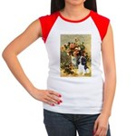 Flowers & Tri Cavalier Women's Cap Sleeve T-Shirt